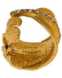 Versace - Embellished Leaf Ring - Lyst