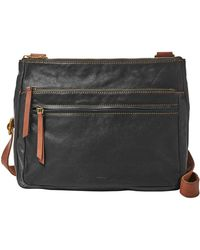 Fossil - Corey Large Leather Crossbody Bag - Lyst