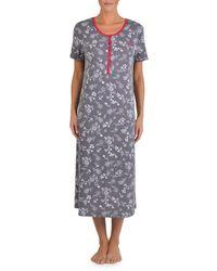 Claudel - Petite Printed Short-sleeve Nightgown - Lyst