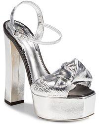 Giuseppe Zanotti | Lavinia Leather Platform Sandals | Lyst