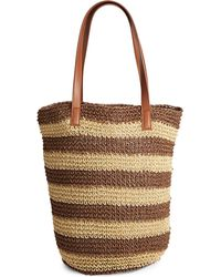 Lord & Taylor | Striped Paper Tote Bag | Lyst