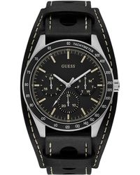 Guess - Chronograph Casual Life Montana Leather Strap Watch - Lyst