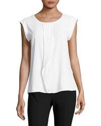 CALVIN KLEIN 205W39NYC - Short Sleeve Drape Blouse - Lyst