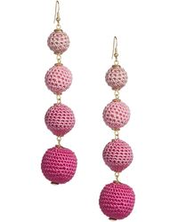 Lord & Taylor - Gradient Fabric Ball Drop Earrings - Lyst