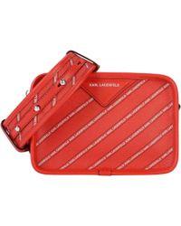 Karl Lagerfeld - Striped Logo Crossbody Bag - Lyst