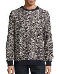 Nautica - Jacquard Cotton Crew Neck Sweater - Lyst