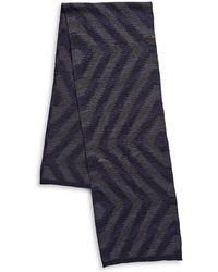London Fog - Fashion Knit Geometric Scarf - Lyst