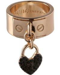 BCBGeneration - Keys To My Heart Charm Ring - Lyst