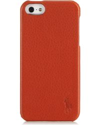 Polo Ralph Lauren | Pebbled Leather Hard Iphone Case | Lyst