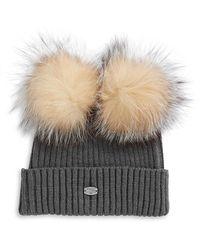 Pajar - Tami Fox Fur Double Pom-pom Beanie - Lyst