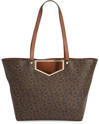 CALVIN KLEIN 205W39NYC - Logo Printed Tote - Lyst
