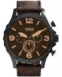 Fossil - Mens Nate Oversized Chronograph Jr1487 - Lyst