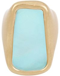 Robert Lee Morris - Moonrise Mother-of-pearl Crystal Statement Ring - Lyst