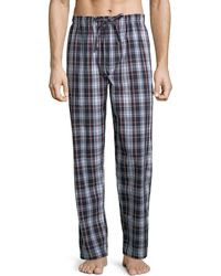Black Brown 1826 | Plaid Cotton Pyjama Pants | Lyst