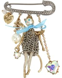 Betsey Johnson - Angel Cat Pin - Lyst