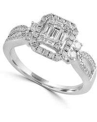 Effy | 14k White Gold And 0.57 Tcw Diamond Engagement Ring | Lyst