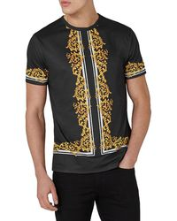 Topman | Slim Fit Baroque T-shirt | Lyst