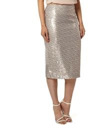 Dorothy Perkins - Two Tone Sequin Pencil Skirt - Lyst