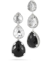 DeLatori - 42ct Black Onyx And Clear Crystal Earrings - Lyst