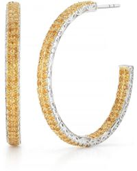 DeLatori - Citrine Hoop Earrings - Lyst