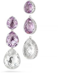 DeLatori - Crystal And Pink Amethyst Drop Earrings - Lyst