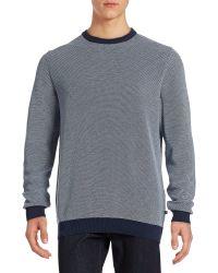 Bugatti - Colourblocked Trim Sweater - Lyst