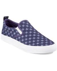 Hudson North - Venalia Check Canvas Sneakers - Lyst