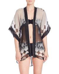 Theodora & Callum   Print Kimono Sleeve Cover-up   Lyst