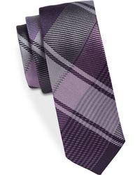 Kenneth Cole - Bell Bottom Silk Grid Plaid Tie - Lyst