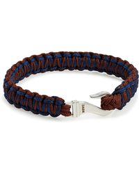 John Zack - Braided Leather Bracelet - Lyst