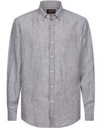 Black & Brown - Linnen Overhemd Met Button-down - Lyst