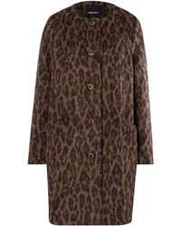 Olsen | Animal Print Cloth Coat | Lyst