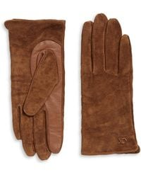 CALVIN KLEIN 205W39NYC - Suede And Leather Gloves - Lyst