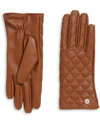 CALVIN KLEIN 205W39NYC - Stud Quilted Leather Gloves - Lyst