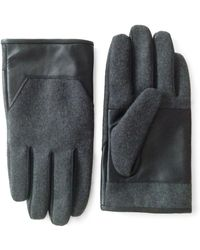 London Fog - Touchscreen Leather Gloves - Lyst