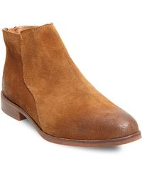 Lord & Taylor | Cory Moto Suede Ankle Boots | Lyst