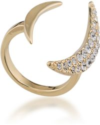 ABS By Allen Schwartz - Dark Horse Crescent Ring - Lyst