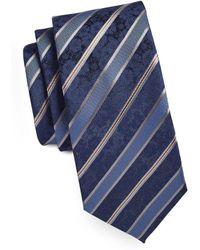 Geoffrey Beene - Striped Floral-weave Tie - Lyst