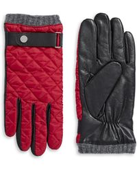 Polo Ralph Lauren - Wool And Leather Blend Quilted Thinsulate Gloves - Lyst