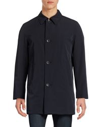 DKNY - Button-front Overcoat - Lyst