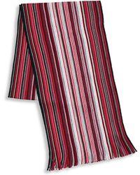 London Fog - Black Friday Wool Stripe Scarf - Lyst