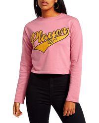Missguided | Player Slogan Sweatshirt | Lyst