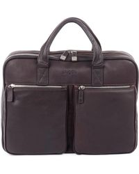 Bugatti - Sartoria Zipper Leather Briefcase - Lyst