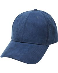Hudson North - Faux Suede Ball Cap - Lyst