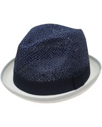 Hudson North - Rolled Brim Fedora - Lyst