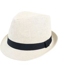 Hudson North - Straw Fedora - Lyst