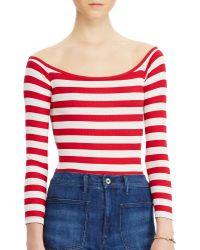 Denim & Supply Ralph Lauren | Striped Rib-knit Bodysuit | Lyst