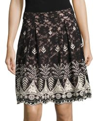 Ivanka Trump | Embroidered Lace Flare Skirt | Lyst