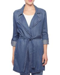 NYDJ - Denim Trench Coat - Lyst