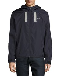 Lacoste - Mesh Lined Coat - Lyst